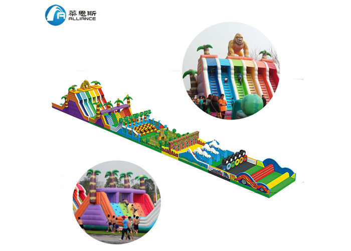 Safety Inflatable Obstacle Course, Fun PVC Tarpaulin Laser Painting inflatable obstacle  For Public Square